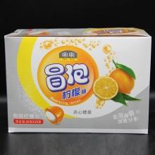 啝啝冒泡可乐糖夹心糖果酸爽柠檬味26克/20袋