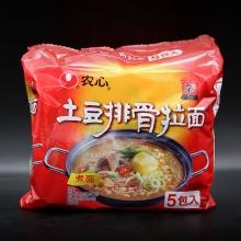农心 土豆排骨拉面煮面5包入净含量600克