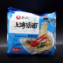农心 上海汤面海鲜味方便面煮面5包入净含量589克